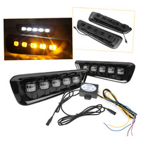 Car LED DRL Daytime Running Light For Ford F150 Raptor 2017 2018 White/Yellow Color