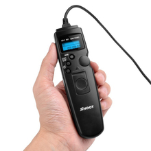 Selfie control remoto temporizador del obturador para canon disparar selfie lapso de tiempo controlador con cable disparador para 5d 6d 7d