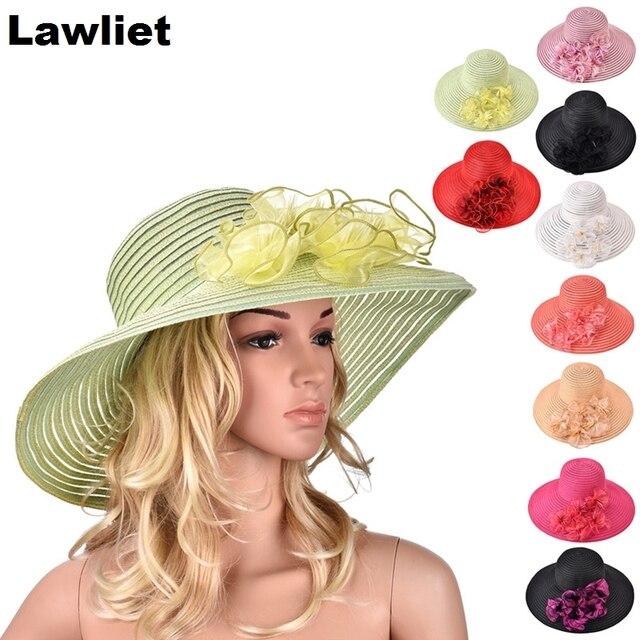 A366 Лето большой краев пляж вс шляпы для женщин защиты hat женщины большой новый стиль моды дамская sunhat