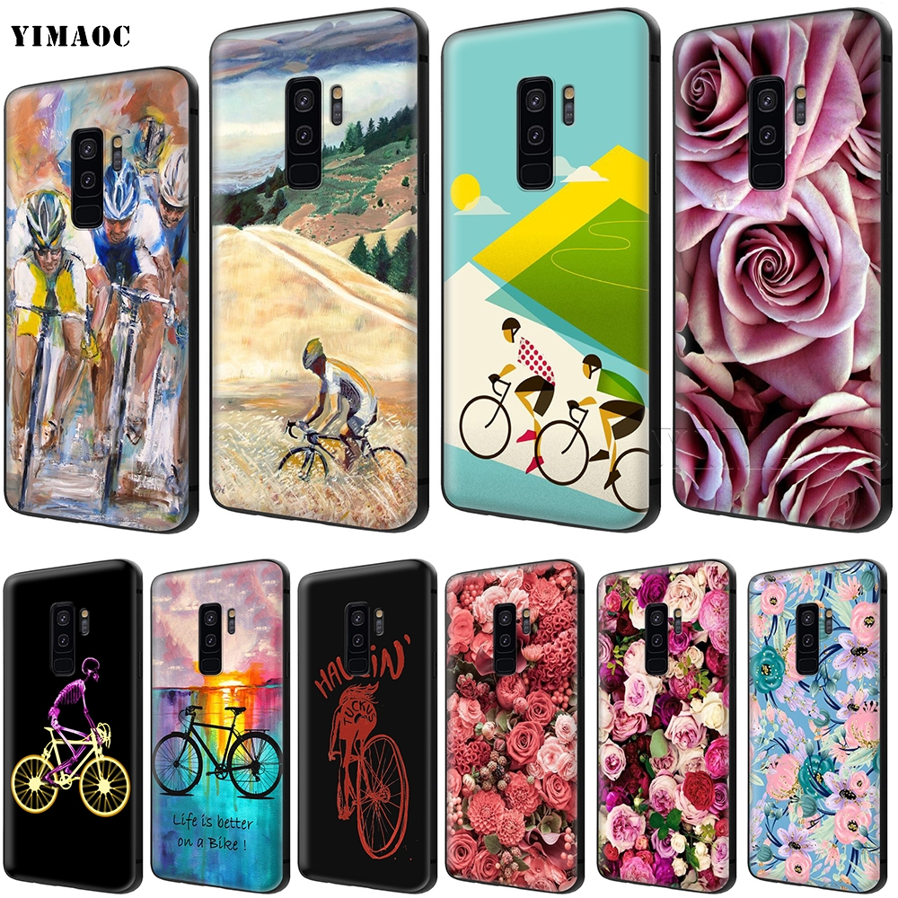 YIMAOC Bike Cycling Art Case for Samsung Galaxy A7 A8 A9 A10 A20 A30 A40 A50 A70 M10 M20 M30 S10 S10e J6 Plus image