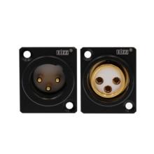 1PC XLR 소켓 EIZZ 하이 엔드 골드 도금 구리 PTFE XLR 잭 플러그 커넥터 마이크 헤드폰 앰프 HiFi 오디오 DIY