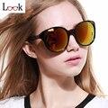New 2017 espelho redondo óculos de sol das mulheres de grandes dimensões do vintage steampunk óculos de sol de marca para as mulheres oculos lunette de soleil gafas