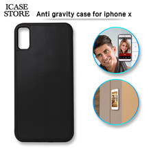 Icase store Anti gravity Nano Suction Phone Case For iPhone X 8 7 6 6S Plus SE 5 5S For Samsung Galaxy Note 8 S8 Plus s6 S7 Edge(China)
