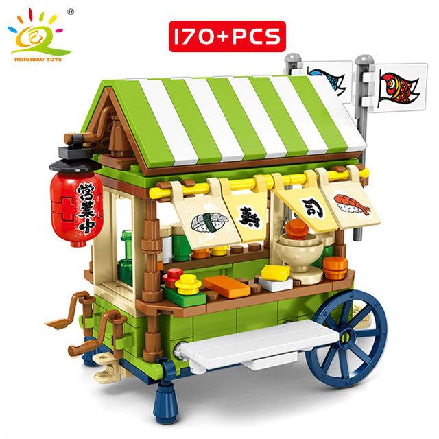 HUIQIBAO Shop Camper Bus Building Blocks compatible Friend for Girl Creator DIY Car Bricks figures set Educational Children Toys