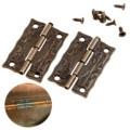 2 Unids 36x23mm Bronce Antiguo Accesorios de Muebles Bisagras Del Gabinete Bisagras de La Puerta Del Cajón Joyero Bisagras Para Muebles Hardware