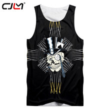 CJLM Dropshipping Tank Top Mannen Grappige Print Joker Vest Poker Singlets Man Hiphop Sportwears Fitness Undershirts Mouwloos Shirt(Hong Kong,China)