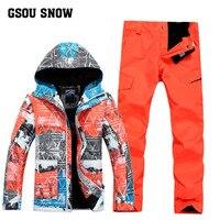 Новый GSOU снег Для мужчин; лыжный костюм ветрозащитная Водонепроницаемый открытый нападение костюм зимняя дышащая Теплая Лыжная куртка лыж
