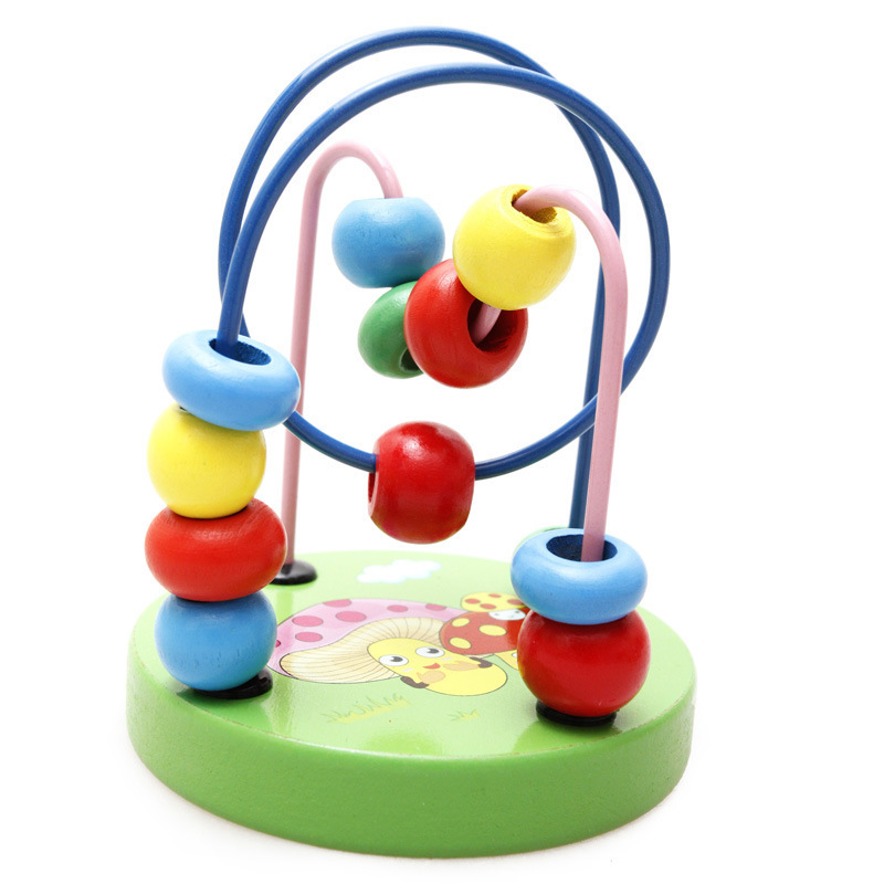 Simingyou Counting Circles Bead Abacus Wire Maze Roller Coaster Wooden Montessori Educational Toy A50-7028 Drop Shipping