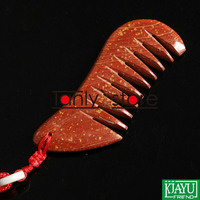 Wholesale & Retail Traditional Acupuncture Massage Tool Natural Bian-stone Healing Guasha comb moon-shape 90x30mm