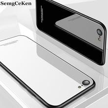 SemgCeKen luxury original glass mirror case for xiaomi redmi go silicone silicon hard back coque phone cover etui Accessories