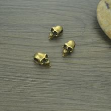 10 sztuk antique bronze metal big hole koraliki w kształcie czaszki Fit europejska bransoletka tworzenia biżuterii 17*10*8mm 4297B tanie tanio Moda 17mm 2 7g skull 5 mm Envelopes Carton Diy jewelry China YiWu