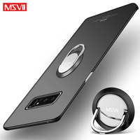 Voor Samsung Galaxy Note 8 Case Cover Msvii Vinger Ring Slanke Coque Voor Samsung Note 8 Case Metalen Houder Terug cover Note8 Case 6.3