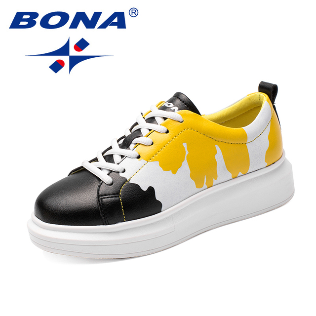 Nueva llegada de BONA zapatos de skateboard de estilo clásico para mujer zapatos deportivos de encaje para mujer Zapatillas de deporte sintéticas para correr al aire libre