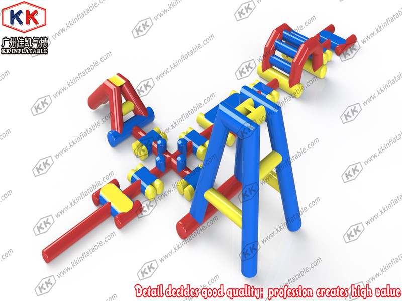 KK Factory Inflatable Floating Water Park Games on Sea Ocean, Combo Inflatable Water Fun Equipements