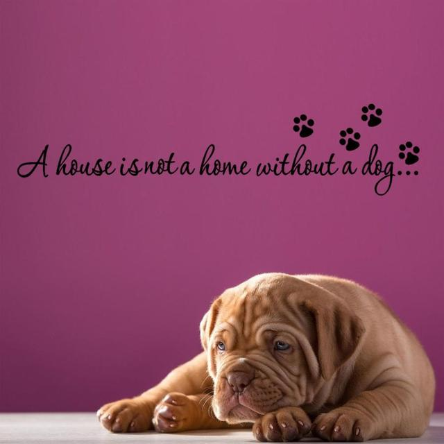 Home Decor House Is Not A Home Without Pet Quote Wall Decal For Home