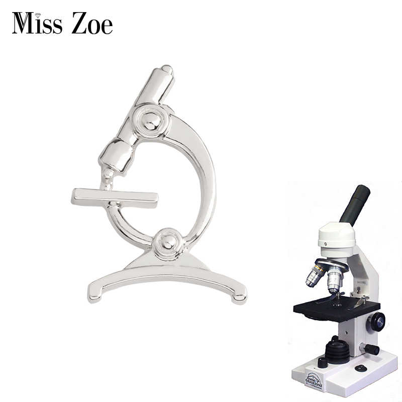 bf254b94fb Microscope Brooch Pins Gold Silver Collar Chemistry pin for Doctors Nurse  Physicians Science Medical Student Graduation