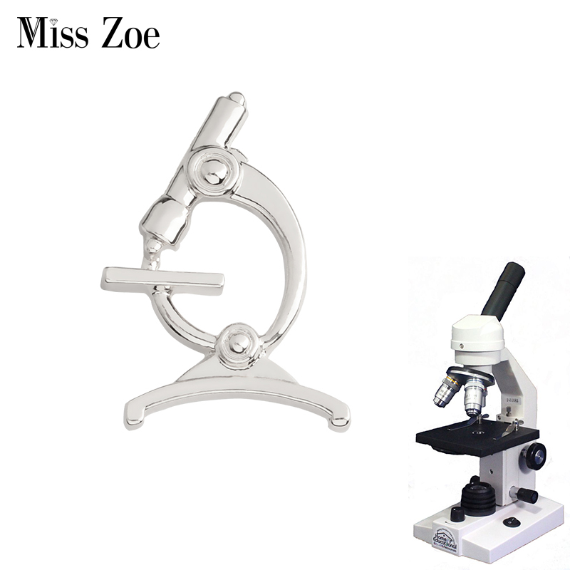 Microscope Brooch Pins Collar Chemistry pin for Doctors Nurse Physicians Science Medical Student Graduation gift