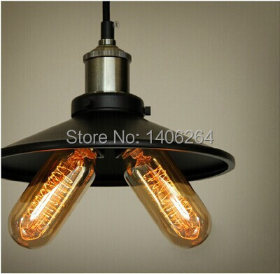 ФОТО 22CM LOFT Industrial Retro Edison Hanging Pendant Light Black/Antique Brass Finish Ceiling Lamp For Cafe Bar Hall Club Store