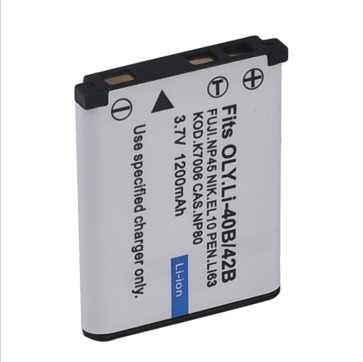 MJKAA 1pcs 3.7V 1200mAh Li-42B EN-EL10 FNP-45 D-Li63 CNP-80 LI-40B Rechargeable Camera Battery For Nikon  OLYMPUS  FUJ