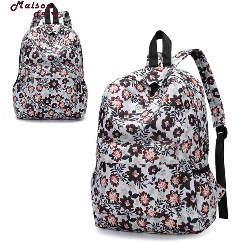 Maison Fabre Backpack Fresh Style Women Backpacks Floral Print Bookbags Female Travel Backpack Drop Shipping 2018f24