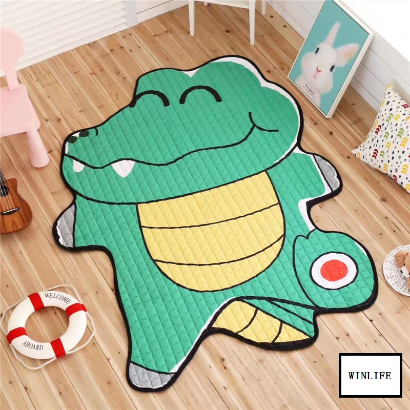 WINLIFE Lovely Cartoon Animal Carpets Kids Room Mats Soft Rugs For Bedroom/Living Room Baby Crawling Mats Creative Carpets