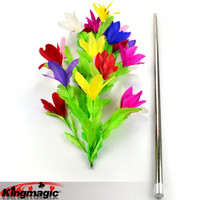 Vanishing Cane To Flower King Magic Tricks Props Toys Email Video To You