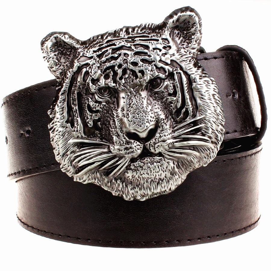 Wilde Persönlichkeit Männer Gürtel Tigerkopf Muster Metall - Bekleidungszubehör - Foto 5