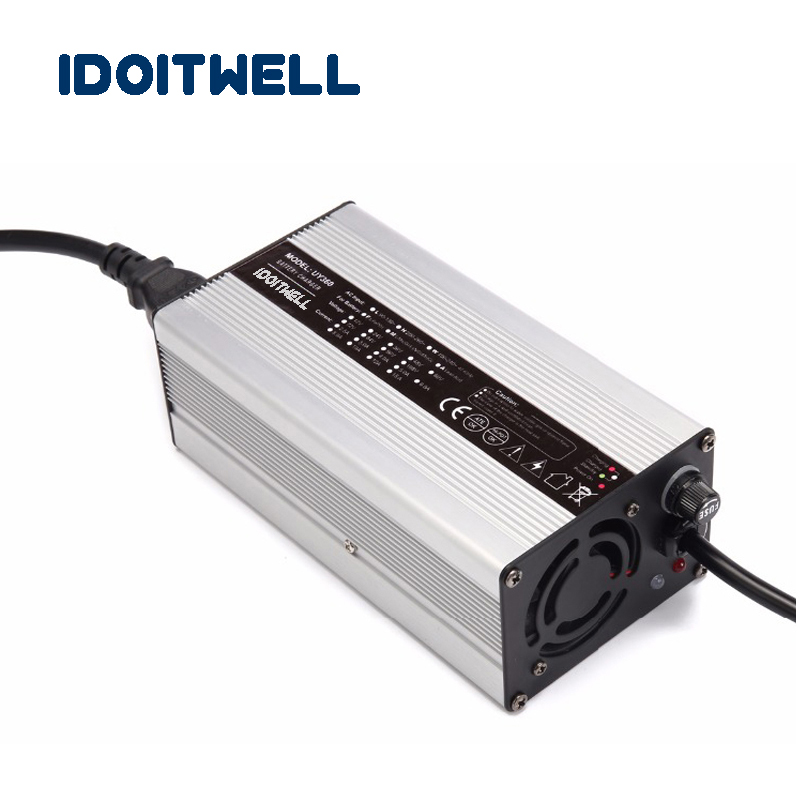 Customized 360W series 72V 4A 60V 5A 48V 6A 36V 8A 24V 12A 12V 20A battery charger for Lead acid or Lithium or LifePO4 battery