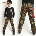 Venta caliente Nuevo 2017 Primavera Jeans Para Niño Camuflaje Bebé chicos Vaqueros Niños Diseñador Jean Pantalones de Los Niños de Mezclilla Cintura Elástica pantalones