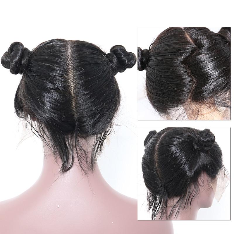 Pelucas del pelo humano del cordón lleno de Glueless recto para las - Cabello humano (negro) - foto 4