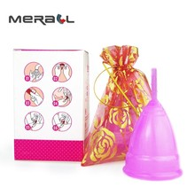 2pcs Women Menstrual Cup Size (S L) Reusable Period Cup Medical Grade Silicone Feminine Hygiene Products Lady Cup Vagina Care