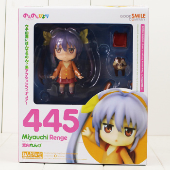 10cm Renge Miyauchi Nendoroid 445 Figure Toy Non Non Biyori Girl With Changeable Face Anime Toy for Kids