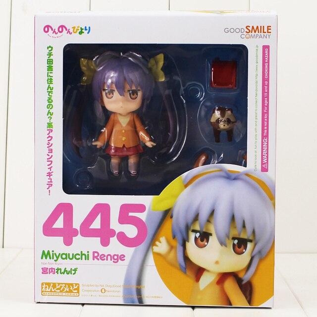 10cm Renge Miyauchi Nendoroid 445 Figure Toy Non Non Biyori Girl With Changeable Face Anime Toy for Kids