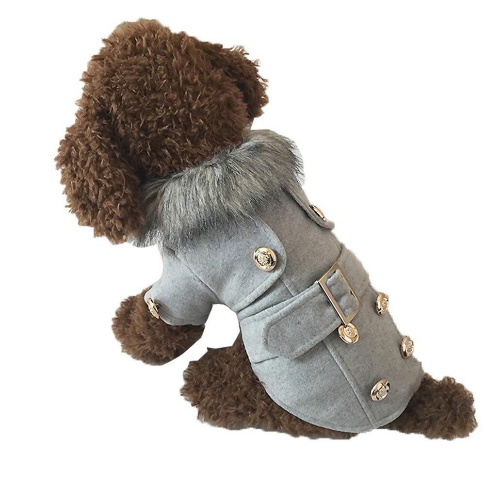 Perro mascota abrigo de invierno ropa para perros cachorro escudo chaqueta de ro