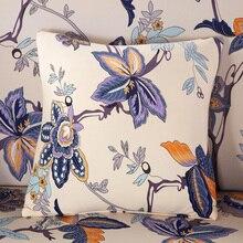 Цветок для диванных подушек, наволочки для подушек, цветочный узор Чехлы на диванные подушки, подушки Чехол Декоративная Подушка Чехол однотонный размером 45*45