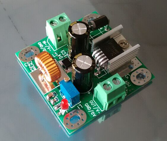 DC-DC LM2596 adjustable power buck module 24V to 48V 12V 24V turn 12V 5V tantus hank package of 3