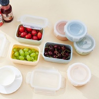 Round Crisper Storage Box Portable Pill Case Candy Vitamin Food Container Vegetable Fruit Tablware Kitchenware Free