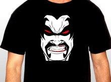 Camiseta con estampado de letras para hombre, Camiseta con estampado original de LOBO * DC Comics, vaporable en plus, algodón, gran descuento, novedad de 2019