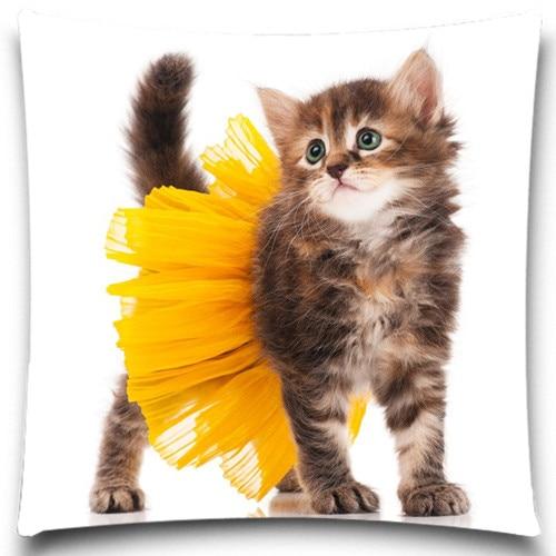 Szép aranyos macska párnahuzathuzat / Kétoldalas nyomtatás, - Lakástextil