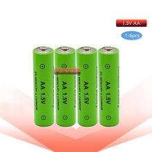 1-4 pc Nova Marca bateria recarregável AA 3000 mah 1.5 V Nova Alcalina Recarregável batery para diodo emissor de luz brinquedo mp3