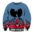 Новая Мода Мужская/Женская Wu Tang Clan Сублимации 3D Печати Повседневная Толстовка S, M, L, XL, XXL 3XL 4XL 5XL