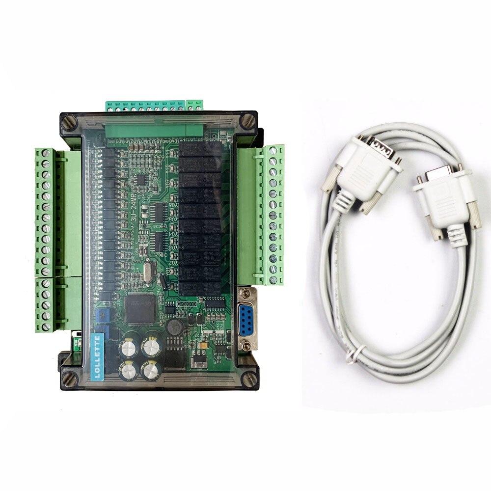 LE3U FX3U 24MR 6AD 2DA RS485 RTC real time clock 14 input 10 relay output 6