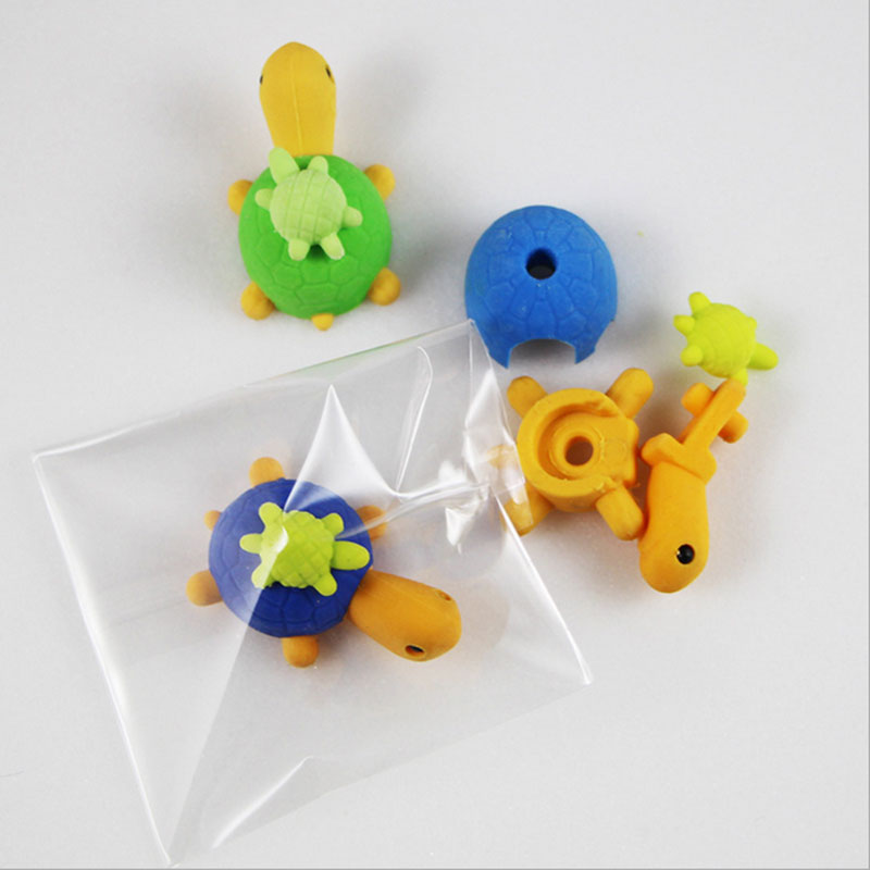 1Pcs Stationery Supplies Kawaii Cartoon Pencil Erasers cute tortoise Erasers office Correction Supplies Kid learning Gifts in Eraser from Office School Supplies