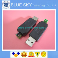 Free Shipping USB To RS485 485 Converter Adapter Support Win7 XP Vista Linux Mac OS WinCE5