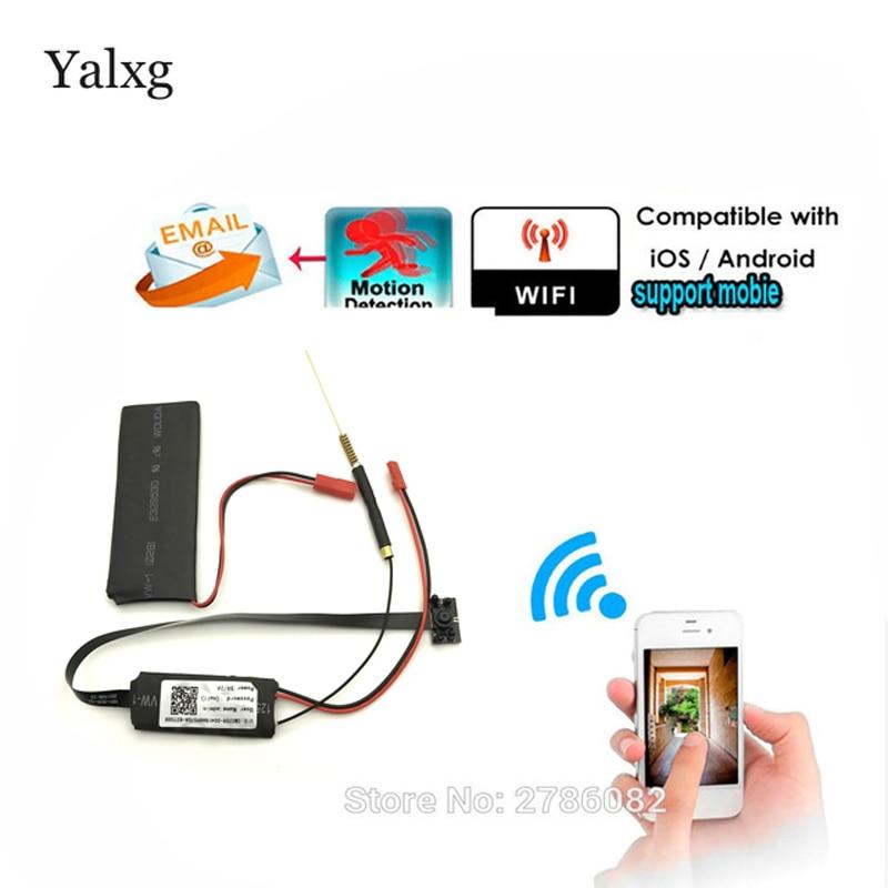1080P Mini Wi-fi HD P2P Wireless Snake CCTV Camera DIY Wireless Infrared Night Module Camera Motion Detection Email Photos DVR