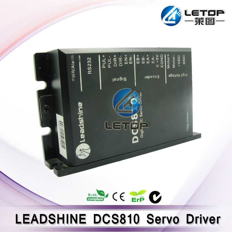 Leadshine DC servo drives DCS810 work 24-80 VDC out 1A to 20A fit for DCM50207/DCM50205 DC Brush servo motor wholesale 3 pcs a lot leadshine ac servo drives acs606 work 24 60 vdc out 0a to18a fit blm57180 1000 brushless servo motor