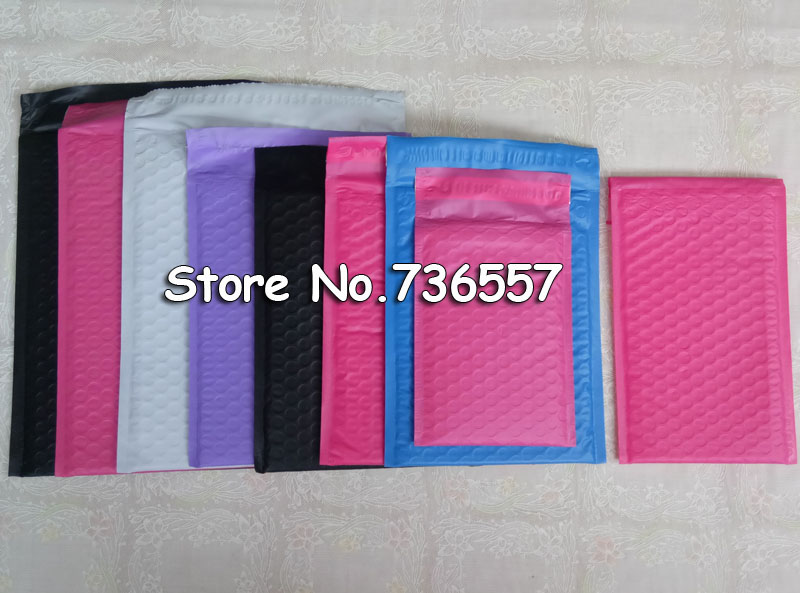 Free Shipping New Pink Color 135X180MM Poly Bubble Mailer Envelopes Padded Mailing Bag Self Sealing Bubbles Evenlopes [100pcs]