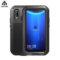 Love Mei Brand Case For Huawei P20 Lite Metal Shockproof Phone Cover For Huawei Nova 3E P20 Lite Full Body Anti Fall Armor Case