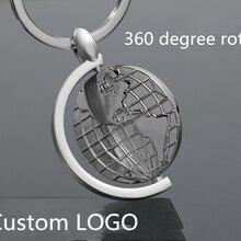 Вращающийся глобус модель Брелоки металлические аксессуары из цинкового сплава подвеска для ключей авто брелоки подарок индивидуальный логотип 3 шт/л