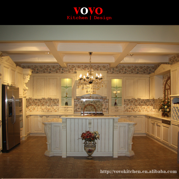 Complete Kitchen Cabinets: White Solid Wood Complete Kitchen Remodeling Manufacturer